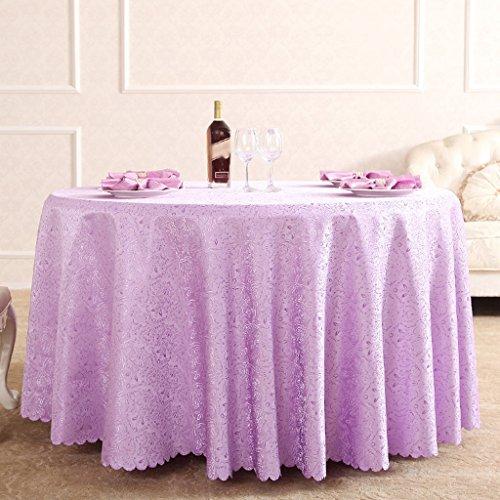 BSNOWF- Nappes European Style Restaurant Hôtel Manteau Rond Tissu Toile Violet Papier Tissu Toile Tissu Toile Tissue ( Couleur : #2 , taille : Round-380cm )