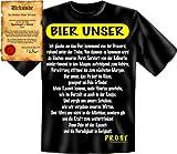 Lustiges Fun Shirt mit Bier-Gebet! Bier Unser T-Shirt, als Geschenk! Mit Spassurkunde Größe: L Farbe: schwarz