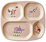 Kinder 4�Zimmer Teller aus Melamin mit M�dchen Circus Print von Rice DK Bild