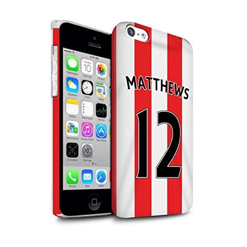 Offiziell Sunderland AFC Hülle / Matte Snap-On Case für Apple iPhone 5C / Pack 24pcs Muster / SAFC Trikot Home 15/16 Kollektion Matthews