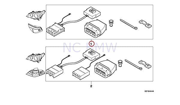 bmw 5 e60 headlight wiring harness set kit 61120432110 0432110:  amazon co uk: car & motorbike
