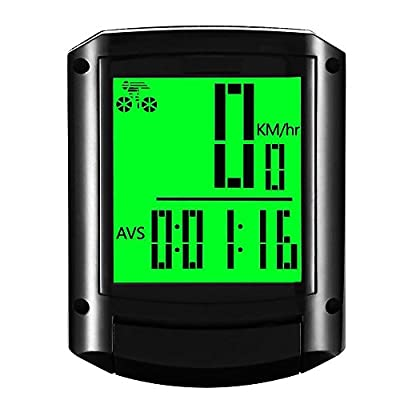 Go-Ride Wireless Waterproof Multi-Functions Large LCD Display Bicycle Computer Bike Odometer Cycling Speedometer from Go-Ride