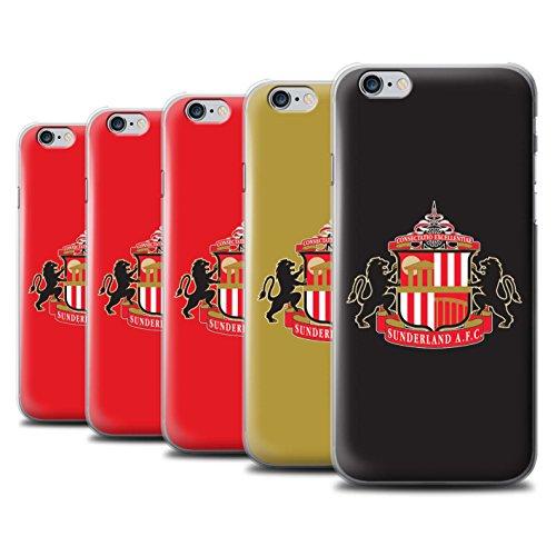 Offiziell Sunderland AFC Hülle / Case für Apple iPhone 6 / Pack 6pcs Muster / SAFC Fußball Crest Kollektion Pack 6pcs