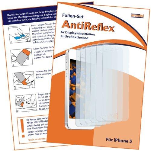 mumbi Schutzfolie kompatibel mit Apple iPhone SE 5S 5C 5 Folie matt, Displayschutzfolie (6x)