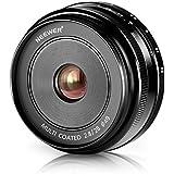 Neewer® 28mm f/2,8 Objectif Fixé Focus Manuelle pour OLYMPUS et PANASONIC APS-C Appareil Photo Numérique, Tel que OLYMPUS: E-M1/M5/M10, E-P5E-PL3/PL5/PL6/PL7, PANASONIC: GM1/2, GX1/2/7/8, GF5/6/7