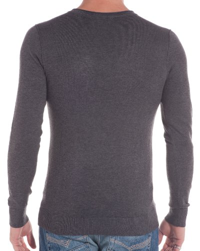 BLZ jeans - Pull gris anthracite tendance Gris