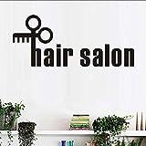 Lglays Citations De Créativité Cheveux Salon Autocollant Mural Ciseaux Coiffeur Sticker Barbier Vitrine Affiches Art Vinyle Peinture Murale Stickers99 * 42Cm