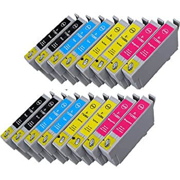 Pack 16 XL Epson T0715 , T0895 Cartouches Compatibles. 6 noir, 6 cyan, 6 magenta, 6 jaune compatible avec Epson DX 4400. Stylus SX 218. Stylus D120, D78, D92, DX4000, DX4050, DX4400, DX4450, DX5000, DX5050, DX6000, DX6050, DX7000F, DX7400, DX7450, DX8400, DX8450, DX9400F, Office B40W, Office BX300F, Office BX310FN, Office BX600FW, Office BX610FW, S20, S21, SX100, SX105, SX110, SX115, SX200, SX205, SX210, SX215, SX218, SX400, SX405, SX410, SX415, SX510W, SX515W, SX600FW, SX610FW. D 78 92 120. DX 4000 4050 4400 4450 5000 6000 6050 7000 F 7400 7450 8400 8450 9400 B 40 W 300 F 310 FN 600 FW 610 S 20 21 SX 100 105 110 115  200 205 210 215 218 400 405 410 415 510 515 600 610. Cartouches Compatibles. JET D ENCRE imprimantes. T0711 , T0712 , T0713 , T0714 , T0891 , T0892 , T0893 , T0894 , TO711 , TO712 , TO713 , TO714 , TO891 , TO892 , TO893 , TO894 © Encre Choix