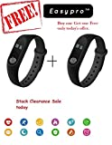 #8: Easypro Bluetooth M2 Fitness Smart Band for Android/iOS Devices (Black)