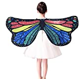 Marlene Kinder Kind DIY Schmetterling Cape Wings Kreative Angel Wings Dress up Costume Print Schal Kostüm Zubehör Weiß