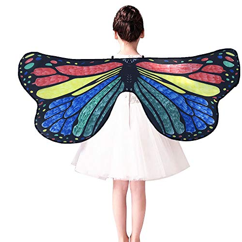Marlene Kinder Kind DIY Schmetterling Cape Wings Kreative -