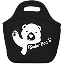Pevita - PolarBag. Bolsa para comida. Hecha de Neopreno. Fiambrera para almuerzos escolares, trabajo, picnic, playa, etc. Lunch bag isotérmico e impermeable