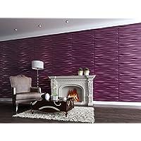 Paneles Decorativos 3D - INREDA - 80X62.5-6 Paneles = 3 M/2 - FACILES DE Montar - ECOLOGICOS - Pulpa DE Bambu