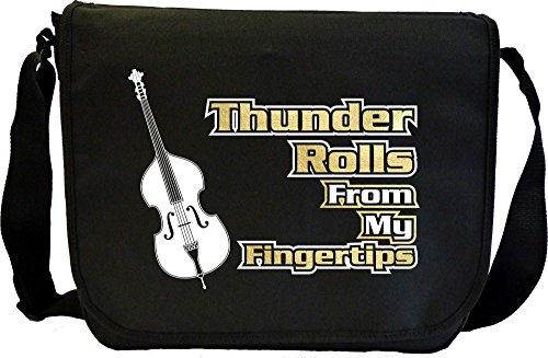 Double-Bass-Thunder-Rolls-From-My-Fingertips-Sheet-Music-Document-Bag-Musik-Notentasche-MusicaliTee