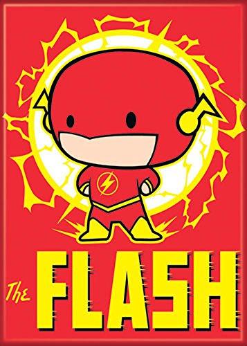 ata-boy DC Comics Chibi The Flash 6,3x 8,9cm Magnet für Kühlschrank und Schließfächer