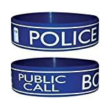 Trendy Doctor Dr Who Wristband Bracelet - Tardis Police Box Design