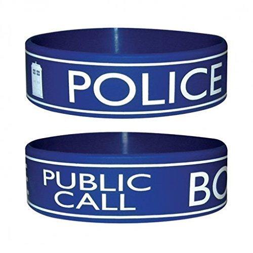 Doctor Who Gummi Armband Police Box (Tardis Kostüm Box)