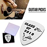 Plektrum Titanium Steel 2019 Digital für Personalized Stainless Steel Guitar Pick Musician Gifts