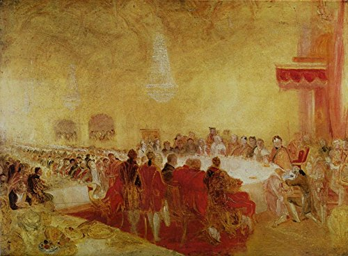Das Museum Outlet-George IV bei der Provost 's Banquet in the Parliament House, Edinburgh, 1822-A3Poster