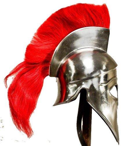 greek-corinthian-helmet-liner-with-red-plume-free-helmet-stand