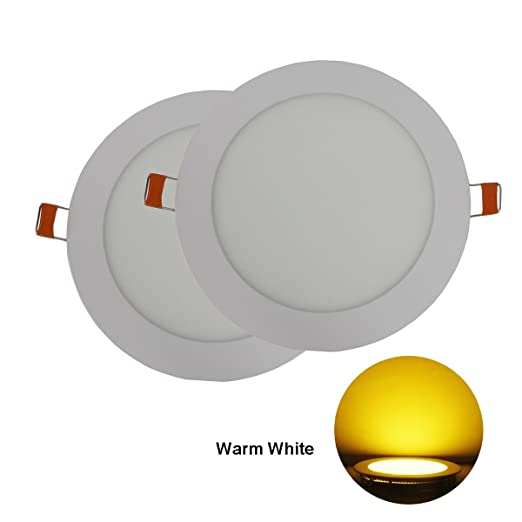 Hothome hh rpa9ww pack of 2 units mini recessed light downlight hothome hh rpa9ww pack of 2 units mini recessed light downlight bulbs led 9w outside diameter 145mm 810 lumen ultra slim round energy saving panel mozeypictures Images