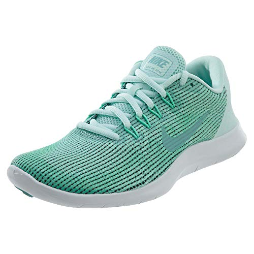 Nike Damen Flex 2018 RN Running Trainers AA7408 Sneakers Schuhe (UK 6.5 US 9 EU 40.5, Igloo Island Green Glow 300)