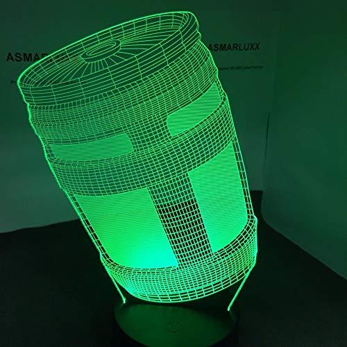 Xiujie Krug 3D Led Lampe Usb Nacht Lampe Tisch Dekor Mit Allen Formen 7 Farben Dekor Änderungen Licht Home Party Show Geschenk Boot Krug