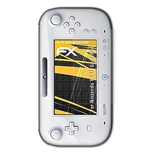 atFoliX Panzerfolie kompatibel mit Nintendo Wii U GamePad Schutzfolie, entspiegelnde und stoßdämpfende FX Folie (3X)