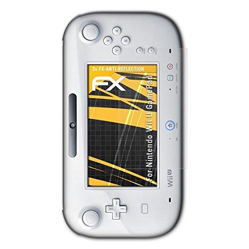 atFoliX Protecteur d'écran pour Nintendo Wii U GamePad Film Protection d'écran - 3 x FX-Antireflex anti-reflet Film Protecteur