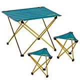 Uquip 'Whisky' Camping Möbel Set Leichtgewicht 3-TLG. Campinggarnitur, Leichtgewichttisch und 2X Leichtgewichtshocker
