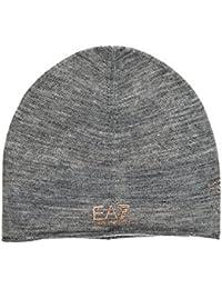 Emporio Armani EA7 gorro de mujer sombrero nuevo train strass gris