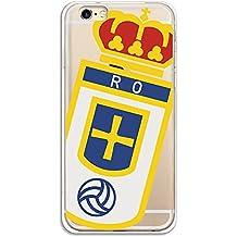 Real Oviedo Carcasa Oficial Escudo Sobre Transparente iPhone 6-6S