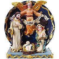 Sacra famiglia presepe Natale Giuseppe Maria Gesù statuetta decorazioni natalizie, Muster B - Stand Sacra Famiglia