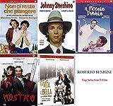 ROBERTO BENIGNI Best (Il Mostro - Non Ci Resta Che Pinagere - Il Piccolo Diavolo - La Vita è Bella - Johnny Stecchino) (5 Dvd)