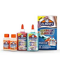 Elmer'S Slime Kit | Slime Supplies Include Elmer'S Metallic Glue, Elmer'S Magical Liquid Slime Activator, 4 Piece Kit