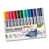 Folia Textilmaler, 12 Stifte, 12 Farben