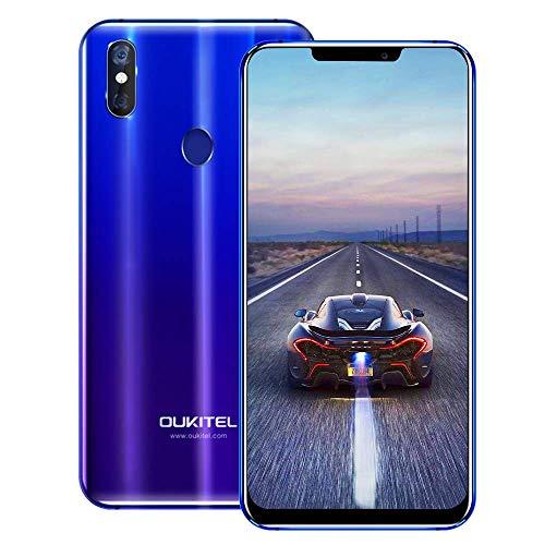 OUKITEL U23 4G Cellulari e Smartphone,6.18 Pollici (rapporto 19: 9), Dual SIM con Android 8.1, 3500 mAh Batteria, MT6763T/P23 2.0 GHz, Octa Core 6GB RAM 64GB ROM, Fingerprint Face ID