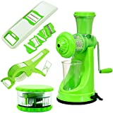 [Sponsored]MRT Premium Kitchen Tools Combo Of Hand Juicer + Delux Vegetable Cutter + Multi Crusher + 6 In 1 Slicer