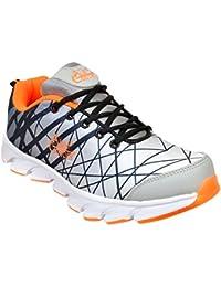 Allen Cooper ACSS-003 Grey Black Orange Shoes For Men