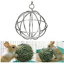 Honeysuck - Bola dispensadora de comida de acero inoxidable para hámsteres, ratas y conejos
