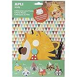 Apli 6 Mascaras Cartón Para Fiestas de Animales
