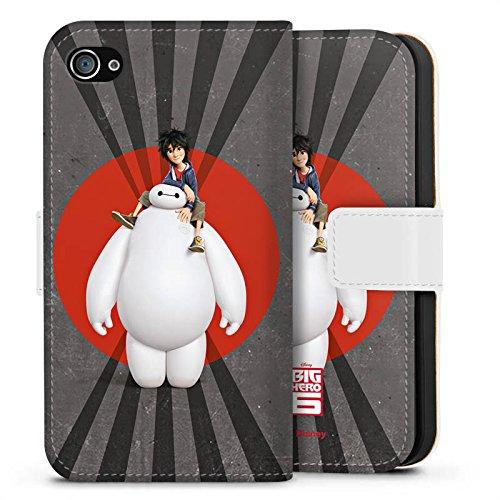 Apple iPhone X Silikon Hülle Case Schutzhülle Disney Baymax und Hiro Merchandise Zubehör Sideflip Tasche weiß