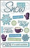 """Paper House 3D Stickers 4.5""""x8.5""""-Let It Snow"""