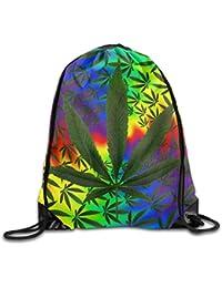 gthytjhv Marijuana Weed Leaf Kawaii Teen Girl Mochila con cordón Capacity Gym Sack Bag Gymnastics Marijuana