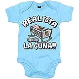 Body bebé Realista desde la cuna Real Sociedad fútbol