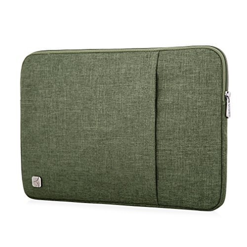 "Caison 10.1"" 10"" Waterproof Laptop Notebook Sleeve Case Classic Bag Pouch Cover Apple 12 inch MacBook 10.8"" Microsoft Surface 3 (Military Green)"