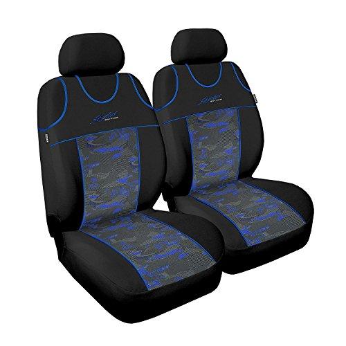 Auto 4u, Universal Front Sitzbezügeset Vorne Sitzauflagen Autositzbezug Sitzbezug, Stylus, 2er Set , blau