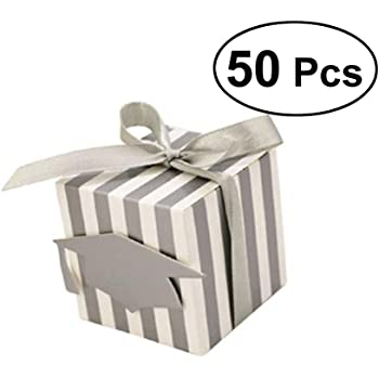 TOYMYTOY scatole di favore - Bomboniere sacchetti per caramelle 50Pz Carta  Scatole Bomboniera Regalo Portaconfetti per Matrimonio Anniversario  Compleanno ... 24ad7535ed62