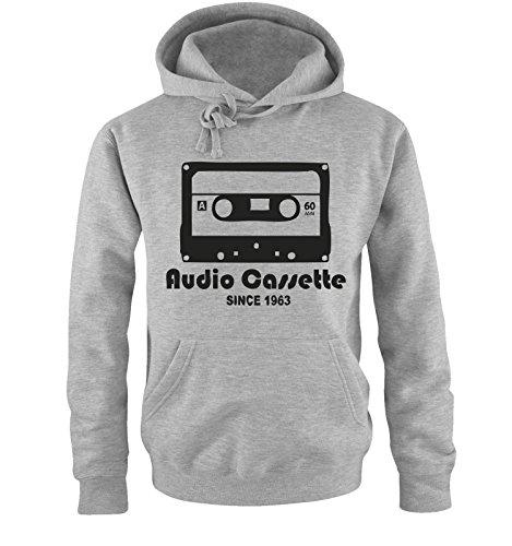 AUDIO CASSETTE - since 1963 - Herren Hoodie Gr. S bis XXL Diverse Farben Grau / Schwarz