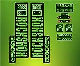 PEGATINAS STICKERS Federgabel Rock Shox Boxxer 2018elx67Fork Aufkleber Decals MTB, grün